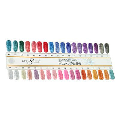 Cre8tion Platinum Gel Color Chart 36 Colors