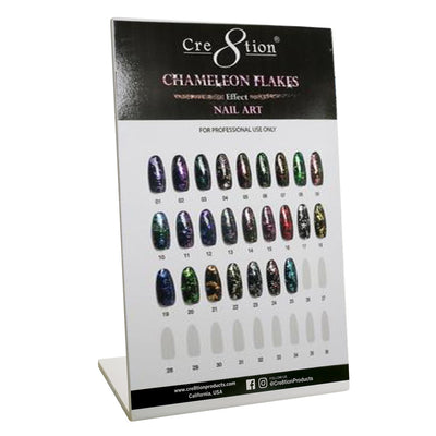 Cre8tion Counter Foam Display Nail Art Chameleon Flakes