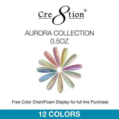 Cre8tion Soak Off Gel - Aurora Collection 0.5oz 12 Colors