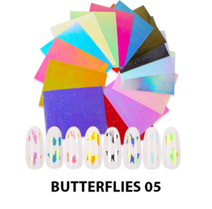 Cre8tion Nail Art - Sticker Set Butterflies 05 16 pcs./bag