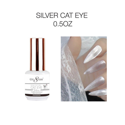 Cre8tion  Gel  - Silver Cat Eye Soak Off Gel 0.5oz