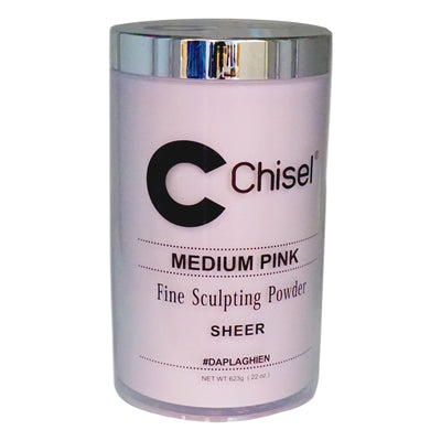 Chisel Acrylic Powder - Medium Pink 22oz