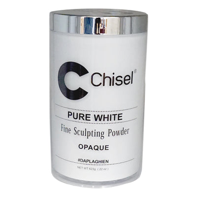 Chisel Acrylic Powder - Pure White 22oz