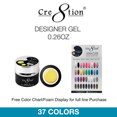 Cre8tion Soak Off Gel - Perfect Line Design 7.5g 4 Colors 6 pcs./box, 320 pcs./case