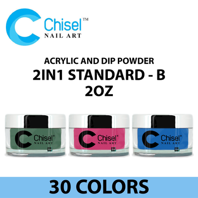 Chisel Acrylic and Dip Powder - 2IN1 Standard - B 2oz