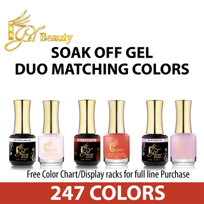 iGel Soak Off Gel - Duo Matching Colors
