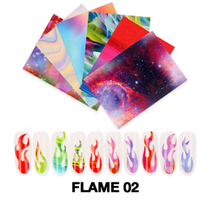 Cre8tion Nail Art - Sticker Set Flame 02 6 pcs./bag