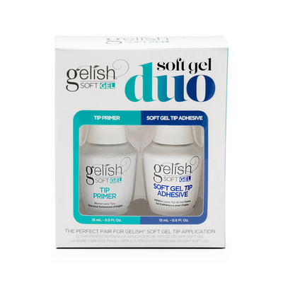 Gelish Soft Gel Duo - Includes Soft Gel Tip primer 15ml and Soft Gel Tip Adhesive 15ml