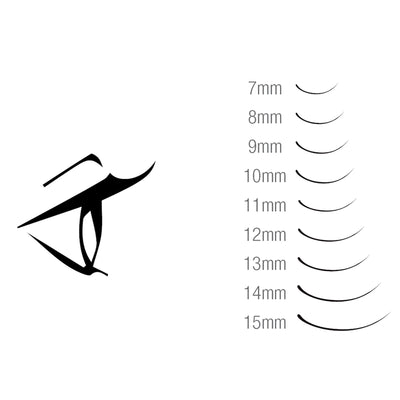 Hami Synthetic Eyelash Extension Single - Line - C 0.25x8mm