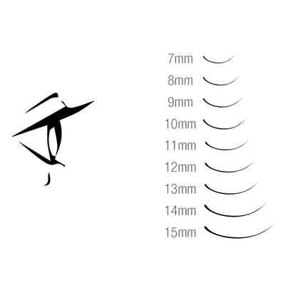 Hami Synthetic Eyelash Extension Single - Line - J 0.07x15mm