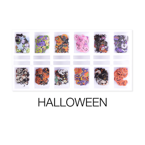 Cre8tion Nail Art - Sequin Halloween Box 12 Styles