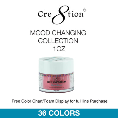 Cre8tion Dip Powder - Mood Changing Collection 1oz 36 Colors 6 pcs./box, 12 pcs./case
