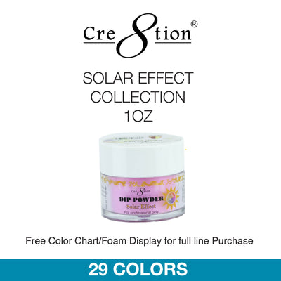 Cre8tion Dip Powder - Solar Effect Collection 1oz 29 Colors 6 pcs./box, 12 pcs./case