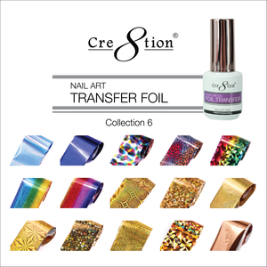 Cre8tion Nail Art - 15 Designs Transfer Foil Collection 6
