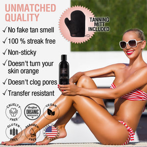 Self Tanner Lotion w/ Mitt & Tan Extender Lotion