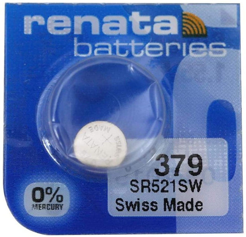 Renata 379 / SR521SW Battery $5.00 (1 piece)