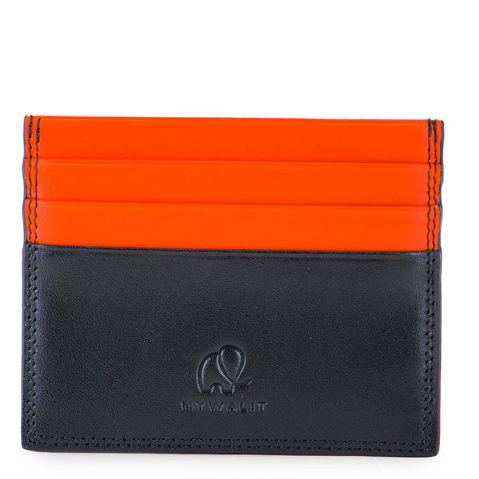 4000 Credit Card Holder Double Sided Black and Orange