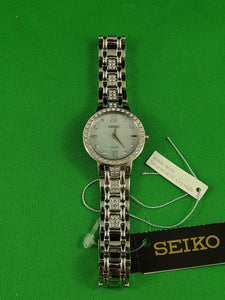 Seiko Ladies Solar Swarovski Crystal Watch SUP359