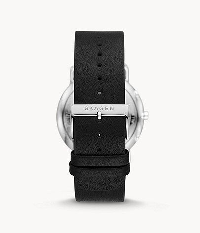 Skagen Horizont Multifunction Black Leather Watch SKW6702