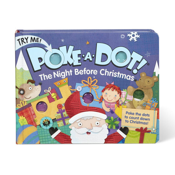 Load image into Gallery viewer, Melissa & Doug Poke-a-Dot Book - The Night Before Christmas Board Book