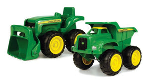 John Deere Sandbox Tractor and Dump Truck
