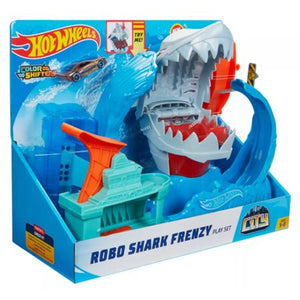 Load image into Gallery viewer, Hot Wheels Robo Shark Frenzy Playset