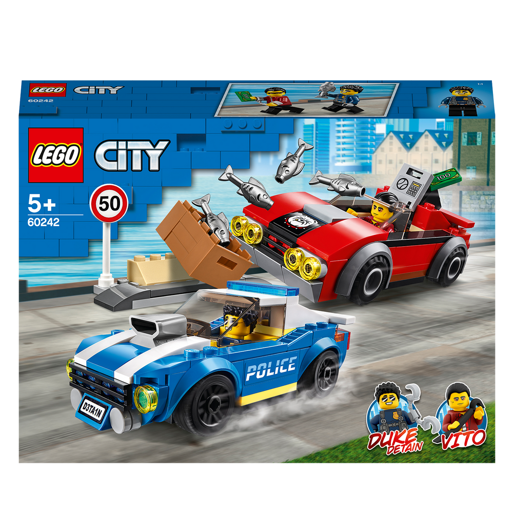 LEGO City 60242 Police Highway Arrest Cars Toy Set