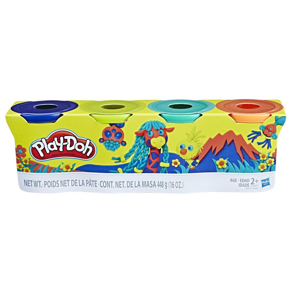 Hasbro Play-Doh 4-Pack of 4-Ounce Cans (Wild Colors)