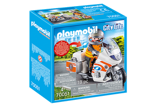 Playmobil City Life Emergency Bike Product Number 70051