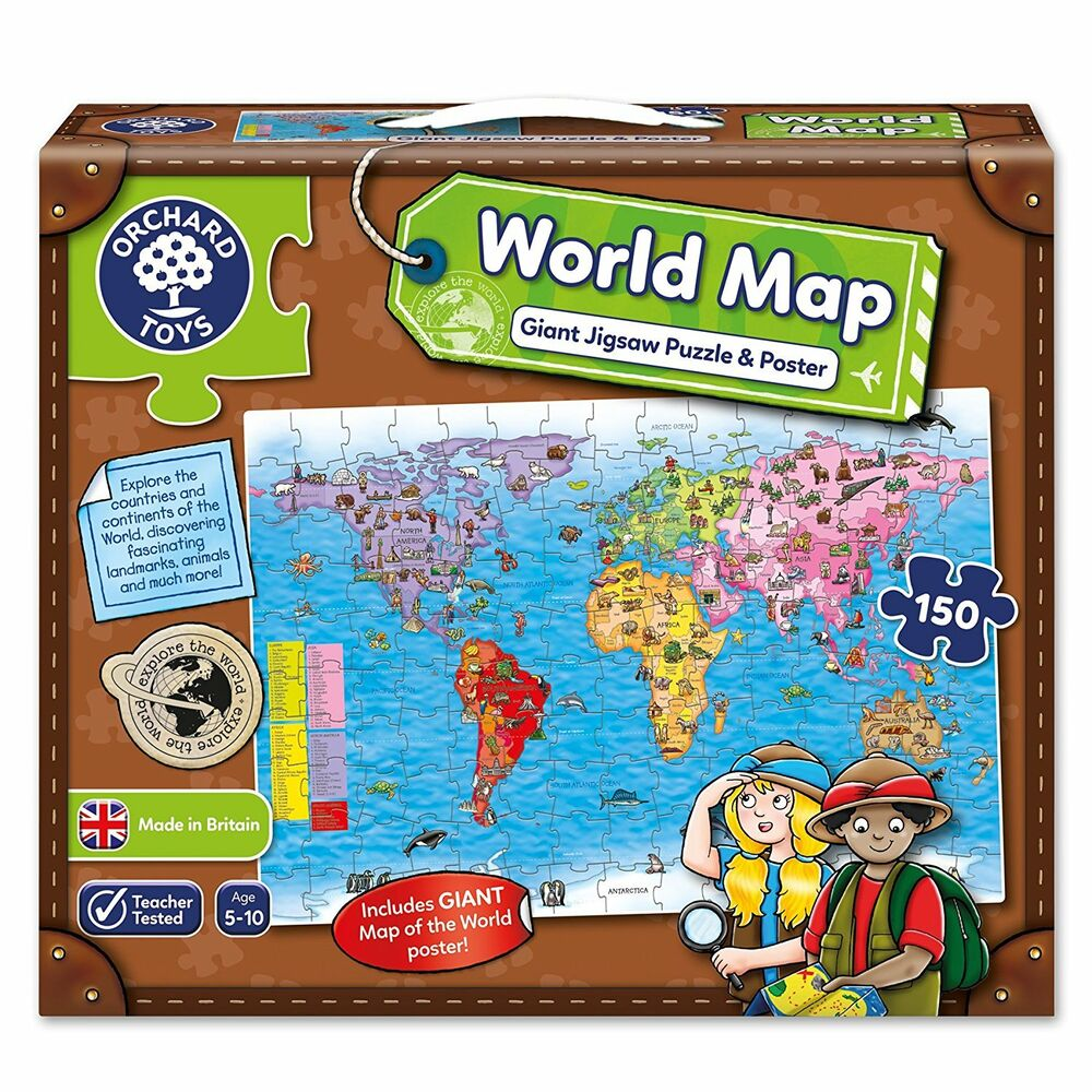 Orchard World Map Jigsaw Puzzle and Poster