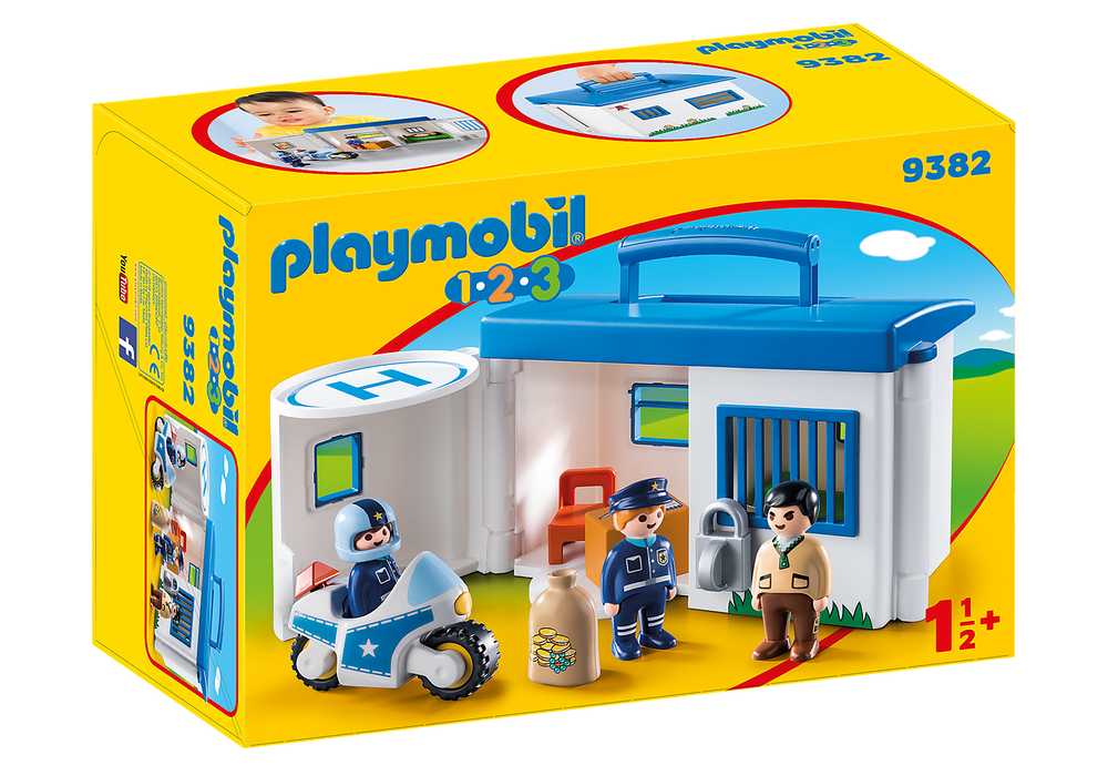 Playmobil 1.2.3. Take Along Police Station (Product No: 9382)