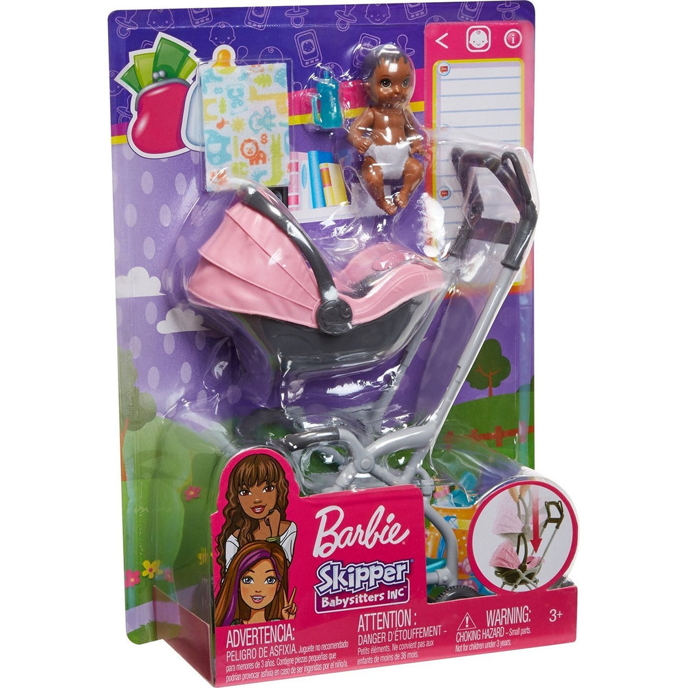 Barbie Skipper Babysitters Inc. Dolls and Playsets with Themed Accessories (stroller)