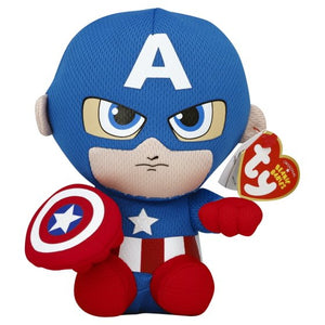 Ty Beanie Babies Captain America the Superhero