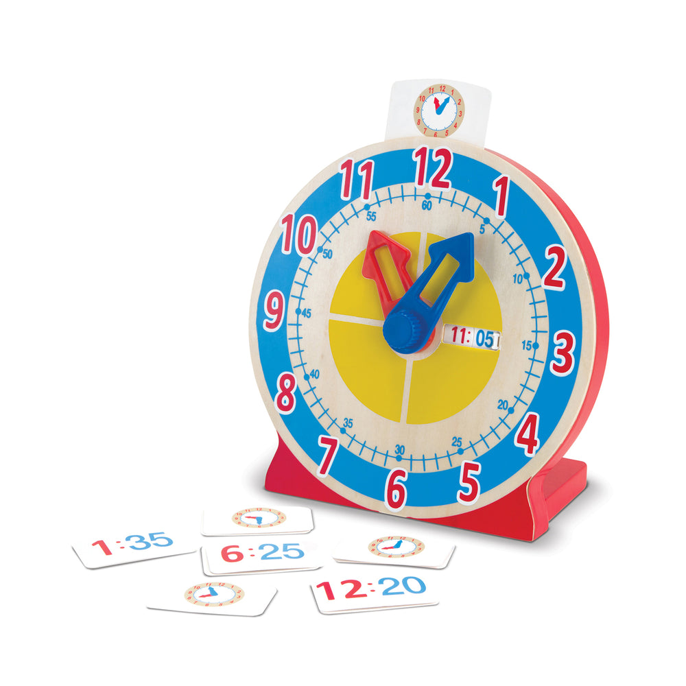 Load image into Gallery viewer, Melissa & Doug Turn & Tell Wooden Clock