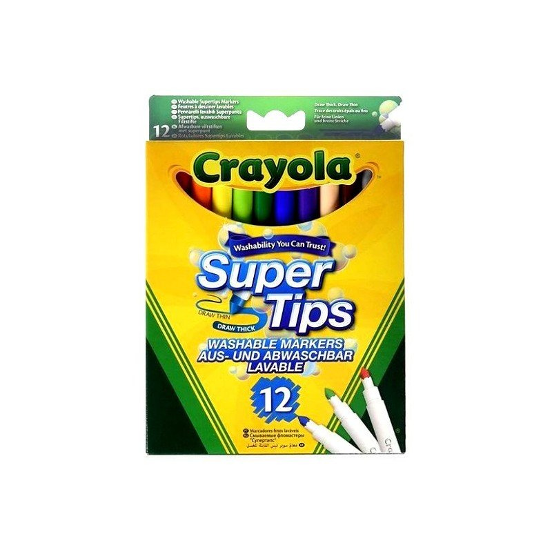 Crayola 12 Super Tips Washable Markers