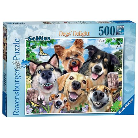 Load image into Gallery viewer, Ravensburger Puzzle Dogs Delight 500 Piece