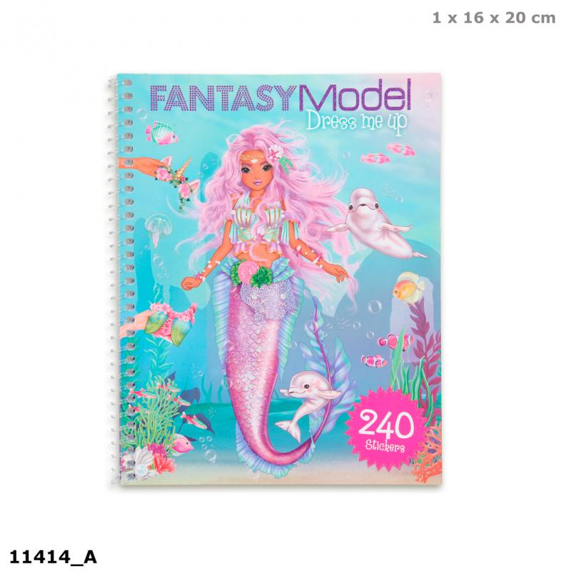 Top Model Fantasy Model Dress Me Up Stickerbook