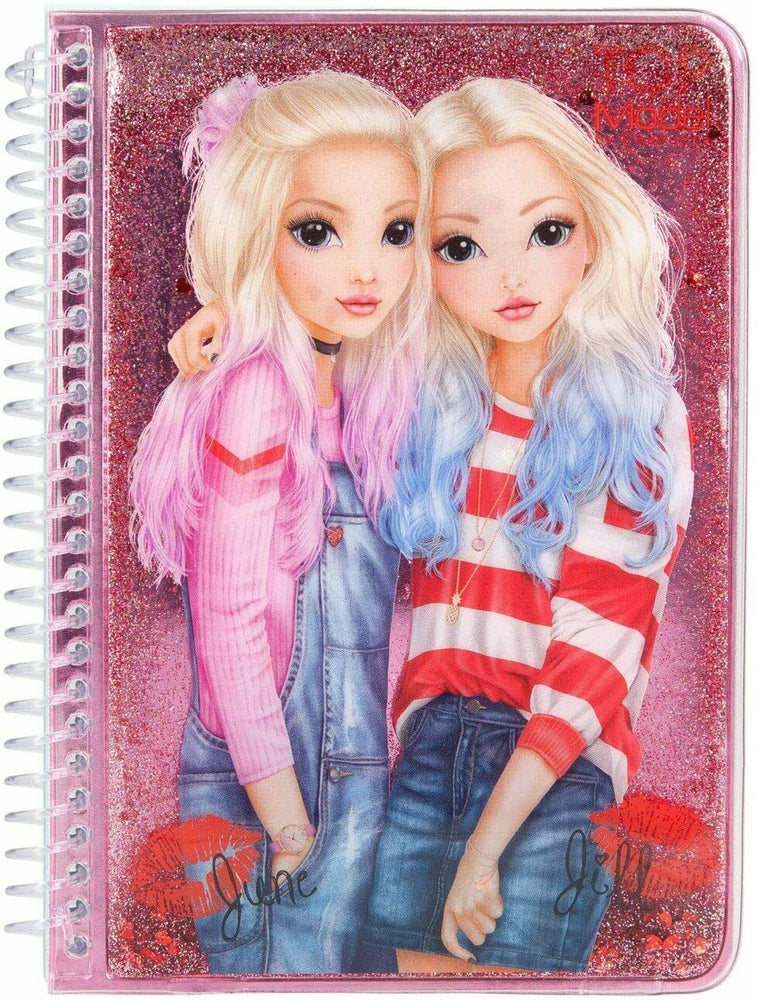 Top Model Notebook with Liquid and Glitter Top Model