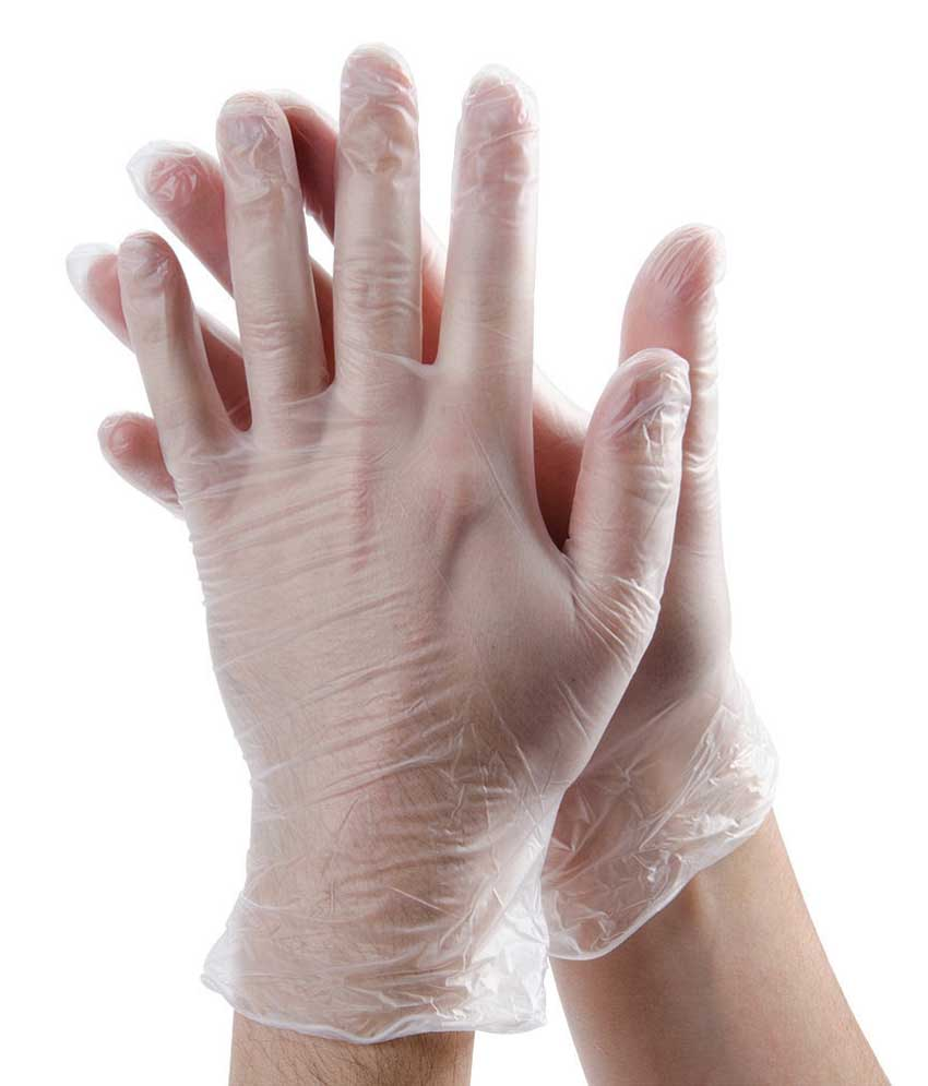 Clear Vinyl Gloves 1pair LARGE