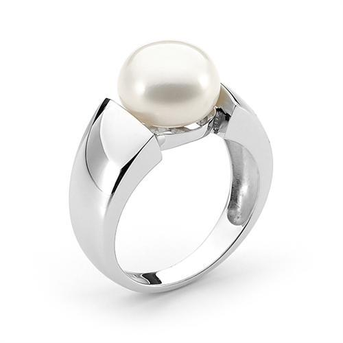 Pearl Ring Sterling Sliver
