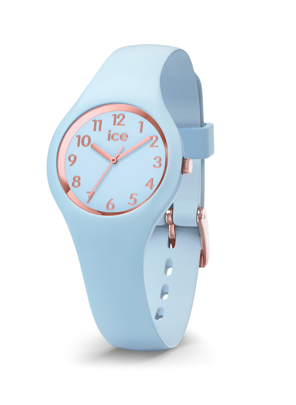 ICE WATCH Glam Pastel Collection Rose Gold Case 28mm (XS) Blue Dial Blue Strap