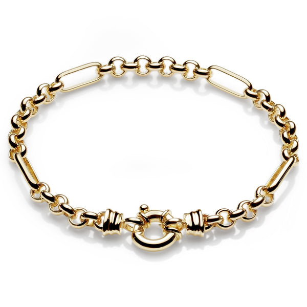 9ct yellow gold belcher bracelet