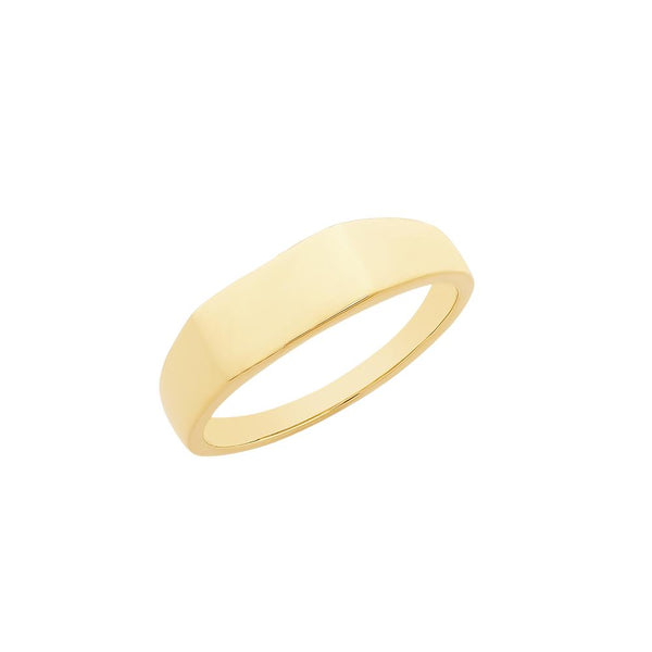 9ct Yellow Gold Plain Mens Ring