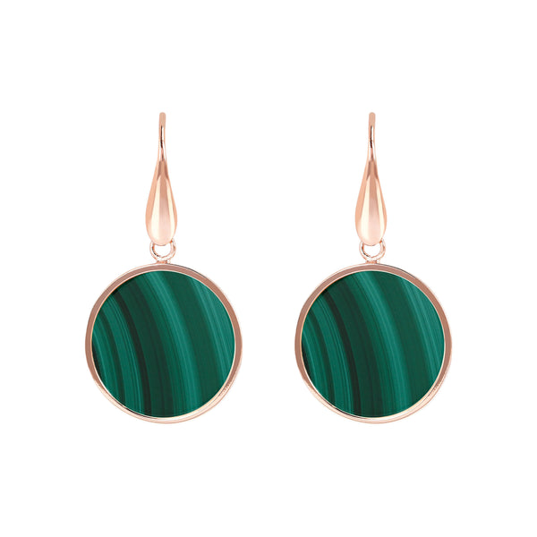 Bronzallure Mini Malachite Earrings