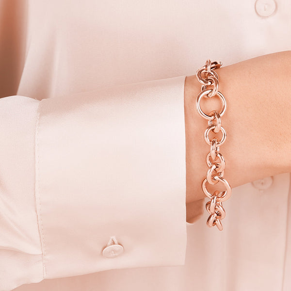 Bronzallure Bracelet with Rolo Chain and Rings