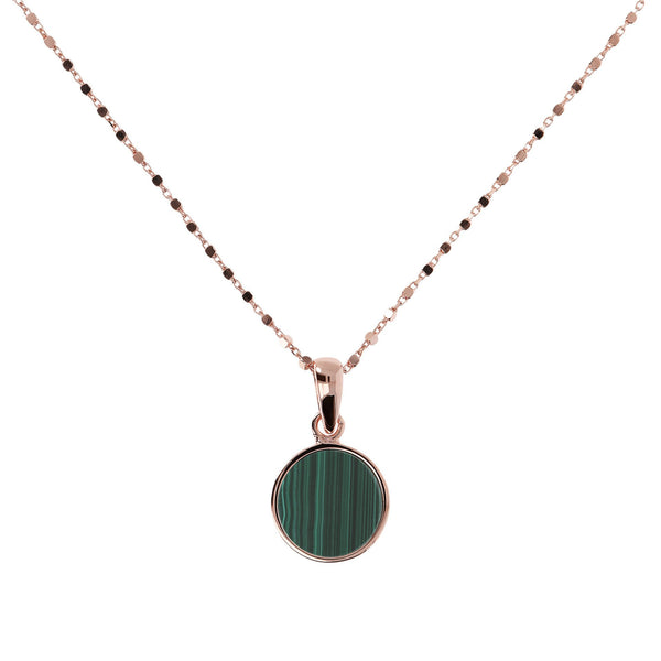 Bronzallure Small Malachite Necklet