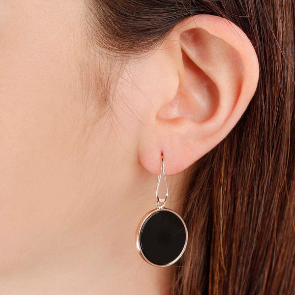 Bronzallure Mini Black Onyx Earrings