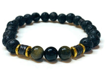 Load image into Gallery viewer, Obsidian Men Bracelet