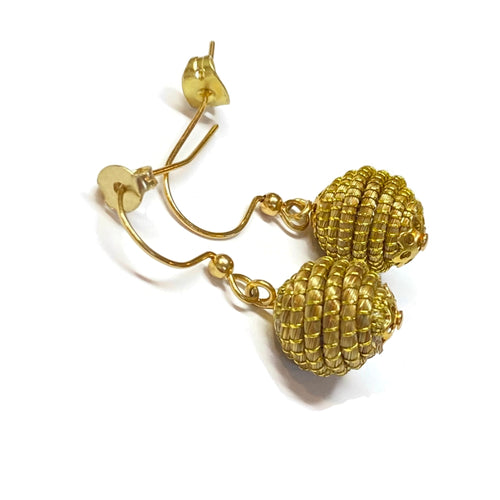 Dangle Golden Grass Earrings