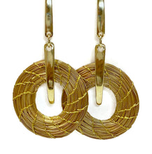 Load image into Gallery viewer, Golden Grass Hoop earrings